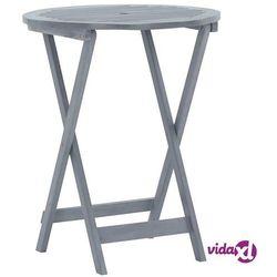 vidaXL Składany stół ogrodowy, 60x75 cm, lite drewno akacjowe