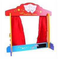 Stolikowy teatrzyk z czerwoną zasłonką bigjigs marki Bigjigs toys