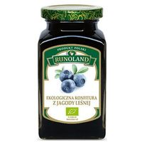Konfitura z jagody leśnej bio 320 g - runoland od producenta Runoland (grzyby, zupy, przetwory)