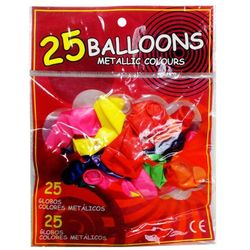 Zabawka SWEDE Balony metalic 25 sztuk