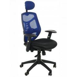 Fotel biurowy gabinetowy kb-8905/niebieski - krzesło obrotowe marki Stema - kb