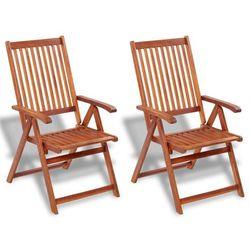 krzesło ogrodowe jadalniane z drewna akacjowego, 2 szt. marki Vidaxl
