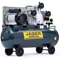 Jager german Sprężarka powietrza tłokowa kompresor tłokowy olejowy  100l 8bar 499l/min 230v mocna rzecz