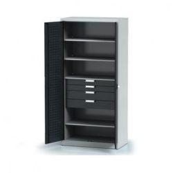 B2b partner Szafa warsztatowa - 4 półki, 4 szuflady