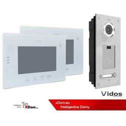 Zestaw dwurodzinny wideodomofonu z czytnikiem kart rfid s562a_m670w marki Vidos