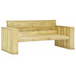Elior Drewniana ławka ogrodowa - conal 2x