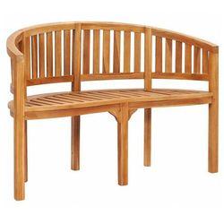 Drewniana ławka ogrodowa - claire 2x marki Elior