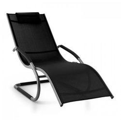 Blumfeldt sunwave leżak ogrodowy leżak relaksacyjny bujający aluminium czarny (4260414896590)
