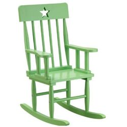 KIDS CONCEPT Krzesło bujane Star kolor zielony z kategorii krzesła i stoliki