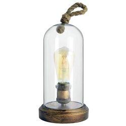 Il mio Lampa stołowa varde rope 312396 stojąca lampka marynistyczna kopuła szklana z liną brąz przezroczysta (5901508312396)