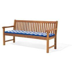 Poducha na ławkę TOSCANA/JAVA w niebiesko-białe zygzaki 169x50x5 cm