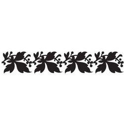 Szablon z tworzywa do malowania flora 193 - pas liści, border marki Szabloneria
