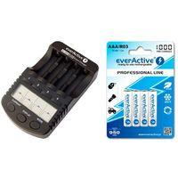 ładowarka everActive NC-1000 PLUS + 4 x R03/AAA everActive 1000 - produkt z kategorii- Ładowarki do akumulat