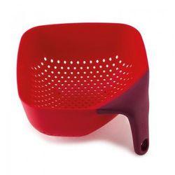 Joseph joseph Średni, kwadratowy durszlak z silikonową rączką jj 40060 czerwony plus