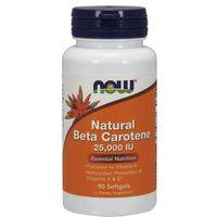 Now Foods Natural Beta Carotene (Beta Karoten) 25,000IU 90 kaps., postać leku: kapsułki