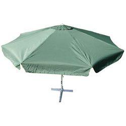 Parasol ogrodowy zielony z korbką 4 m