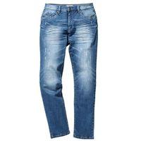 Dżinsy ze stretchem Slim Fit Straight bonprix niebieski, kolor niebieski