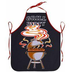 Fartuch kuchenny Grill party czarny, 63 x 75 cm