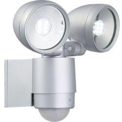 Kinkiet lampa oprawa ścienna zewnętrzna Globo Radiator II z czujnikiem ruchu 2x3W LED srebrny 34105-2S (9007