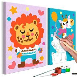 Bimago Selsey zestaw do malowania lew i żyrafa (5903025188300)