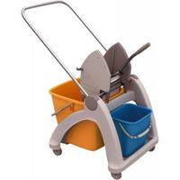 Wózek do sprzątania jednowiadrowy z tworzywa sztucznego, wiadro 25l, prasa do mopów marki Merida