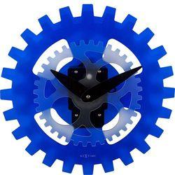 Zegar ścienny Moving Gears niebieski by NeXtime