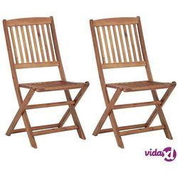 Vidaxl składane krzesła ogrodowe, 2 szt., lite drewno akacjowe (8719883722184)