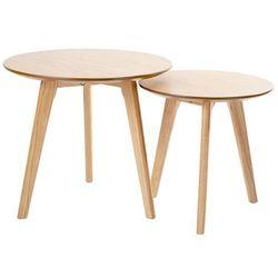 Zestaw stolików kawowych SLOW DUO dąb - MDF, nogi dębowe, 9363.OAK (10645603)