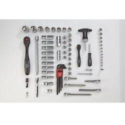 Zestaw narzędzi COMBINE, klucz nasadowy, zestaw wkrętaków combi, 72-częściowy, l