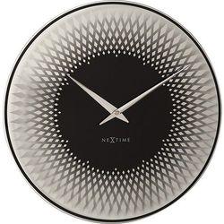 Zegar ścienny Sahara srebrny, kolor szary