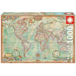 Educa, Świat, mapa polityczna, puzzle, 1000 elementów ze sklepu Smyk