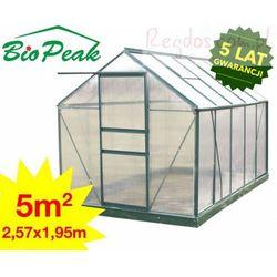 Szklarnia aluminiowa poliwęglanowa 5 m² Zielona z kategorii szklarnie