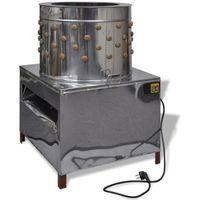 vidaXL Elektryczna skubarka do drobiu z 91 palcami 50 cm