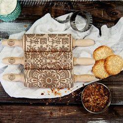 Mygiftdna Kultury świata - zestaw 3 mini wałki do ciasta - 3 wałki