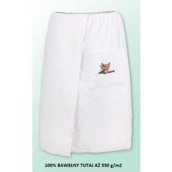 Sauna kilt ręcznik biały 100% bawełna męski 70*140 550 g/m2 z logo