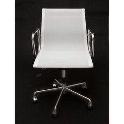 D2.design Fotel biurowy ch inspirowany ea117 siateczka, chrom - biały