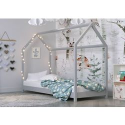 Kocotkids Domek, łóżko do pokoju dla dziecka, bella, drewno, szary, mat (5903282036031)