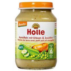 Holle (dla niemowląt) 6 mc ziemniaki z groszkiem i cukinią bezglutenowe bio 190 g - holle, kategoria: deserk