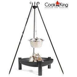 Cook king Kociołek nierdzewny na trójnogu 10l + palenisko palma 70cm