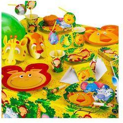 Zestaw urodzinowy safari - party w dżungli - 37 elementów marki Amscan