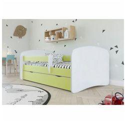 Łóżko dziecięce z barierką Happy 2X 80x180 - zielone, Kocot-łóżko-babydreams-zielone-bez-wzoru