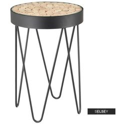 stolik kawowy isleen o średnicy 41 cm hairpin legs modrzew marki Selsey