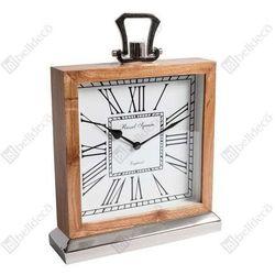 Zegar stojący gabinet c550037 kwadratowy drewniany marki Belldeco