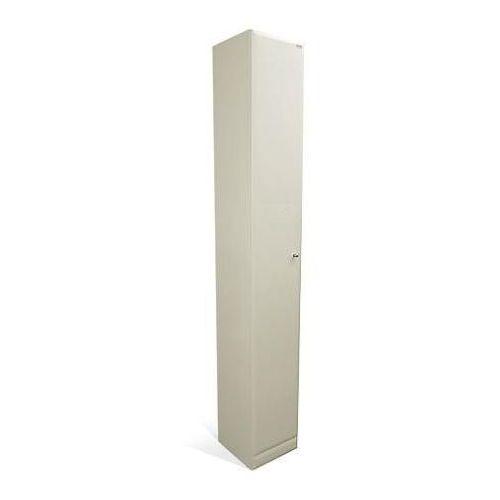 słupek łazienkowy z MDF 40x31x200 cm wysoki S5 40 z drzwiczkami, produkt marki Lawabo