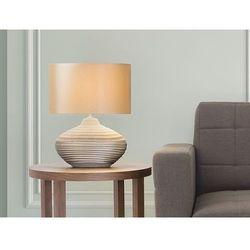 Beliani Nowoczesna lampka nocna - lampa stojąca - brązowa - lima (7081454157055)