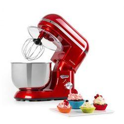 bella elegance, robot kuchenny, 1300 w, 1,7 hp, 6 stopni, 5 litrów, czerwony marki Klarstein