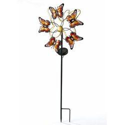 """Bonprix Ozdoba ogrodowa solarna """"motyle"""", wbijana w ziemię pomarańczowo-czarny"""