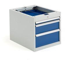 Szafka narzędziowa solid, do stołu roboczego, 3 szuflady, 540x520x665 mm marki Aj produkty