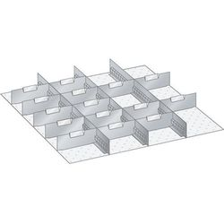 Ścianka działowa, do wym. szafy 717x725 mm, do szuflad o wys. 200 mm. 3 ścianki