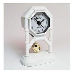 Mini zegar z wahadłem białym #ak42 marki Atrix